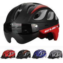 85g/L High Density EPS Multi-functional Cycling Bicycle helmet Goggle MTB bike sports Helmet mountain Bike brim 5colors Goggles