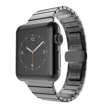 متوج ل apple watch iwatch 42 مللي متر 38 مللي متر سلسلة 3/2/1 الفرقة فراشة مشبك معدني حزام ساعة اليد رابط سوار حزام المعصم