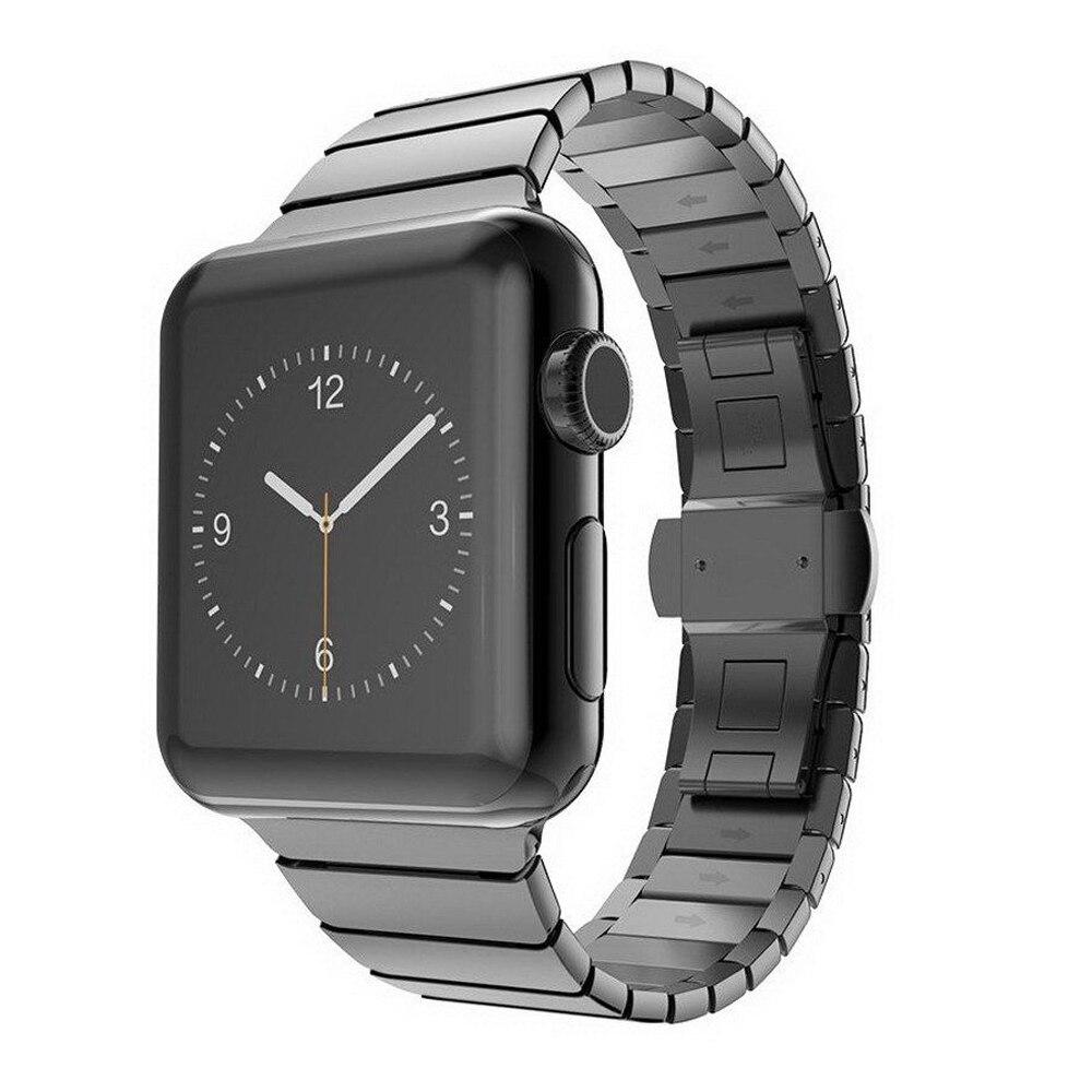 CRESTED for apple watch iwatch 42mm 38mm series 3/2/1 band Butterfly buckle metal watch strap link bracelet wrist belt
