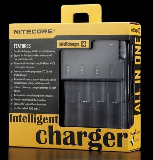 NITECORE SYSMAX Versión 2.0 Intellicharger i4 Cargador de Batería para 26650/22650/18650/17670/18490/17500 batería