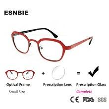 ESNBIE Women Eyeglasses Prescription Glasses Frames Round Vintage Small For Sight Occhiali Uomo Optical