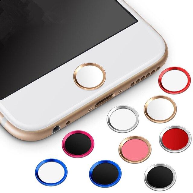 21c0f7629a5 Nuevo lujo metal pegatinas botón home para iphone 6/6 más accesorios del  teléfono diy