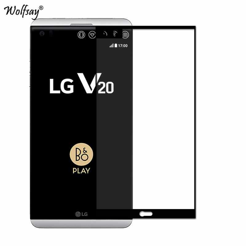 Color Full Cover Tempered Glass SFor LG V20 Screen Protector 9H Hardness Film For LG V20 Glass For LGV20 F800 H990N H990 Wolfsay