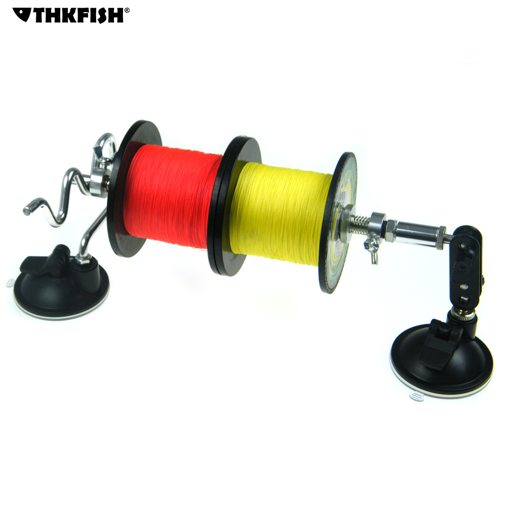 Portable fishing line spool spooler system 2 double leg for Fishing line on reel