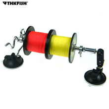 Portable Fishing Line Spool Spooler System 2 Double Leg Suction Cup Stable Aluminum Fishing Reel Line Winder Winding Machine