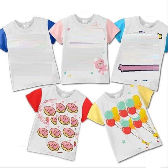 Hooyi мультфильм Футболки для маленьких мальчиков детская одежда топы для девочек Лето 100% хлопок футболки для малышей рубашки новорожденных футболка От 1 до 5 лет