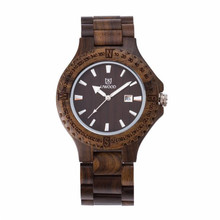 Men's Zebrawood Wood Watch Analog Japanese Miyota Quartz wristwatches Vintage Wood Grain Watches for Men Mens Wooden Gift 4/