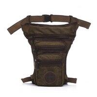 Men Canvas Drop Leg Bag Assault Military Male Waist Belt Hip Bum Purse Shoulder Crossbody Messenger