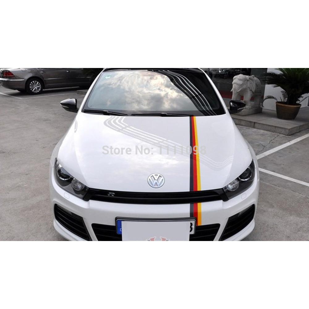 Car sticker design black - 30 X Germany Flag Red Yellow Black Car Sticker Whole Body Sticker For Vw Golf Scissor
