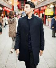 Grey black blue casual teenagers blazers men's clothing winter wool coat slim fit the mens blazer jacket plus size S – 9XL