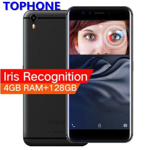 GOME K1 4g LTE Smartphone 4 gb RAM 128 gb ROM 5.2 HD MTK6757 Octa base Android 6.0 iris Reconnaissance 3500 mah 16.0MP Mobile Téléphone