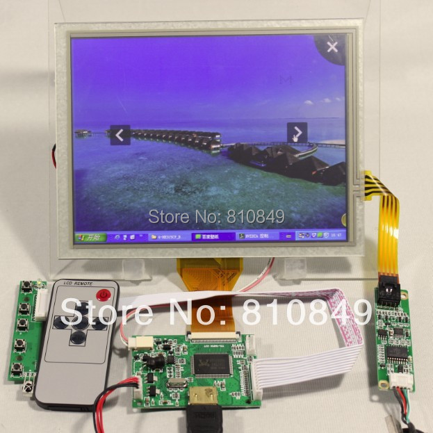 HDMI input LCD controller board+8inch 800x600 EJ080NA-05A AT080TN52 lcd+Touch hdmi vga 2av reversing lcd driver board work for 8inch at080tn52 ej080na 05a ej080na 05b 800 600 lcd panel