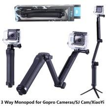 GoPro Monopod Plegable de 3 Vías Cámara Monopod Monte Grip Brazo de Extensión Trípode para Gopro Héroe 4 2 3 3 2 1 SJ4000