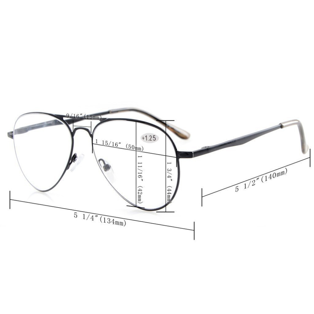 R15036 Eyekepper-lezers Kwaliteit lentetempels Pilot-stijl Leesbril & - Kledingaccessoires - Foto 6