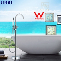 Wels And CUPC Floor Mounted Brass Bathroom Hot And Cold Water With Hand Shower Torneira Shower