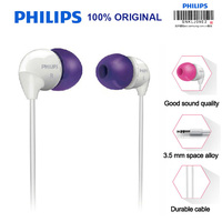 Philips Earphone SHE3501 In-Ear Flat Head Earbuds 3.5mm Wired Microphone Headsets Super Bass for MP3 Player