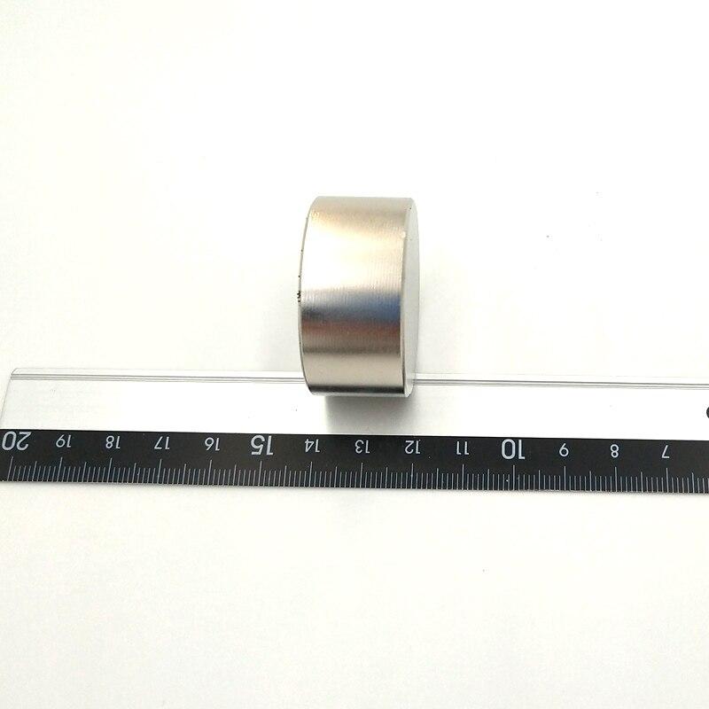 Купить с кэшбэком 1PCS round D40x20mm N52 Super Powerful Strong Rare Earth Block Neodymium Magnet N38 N52 Magnets diameter 40*20mm