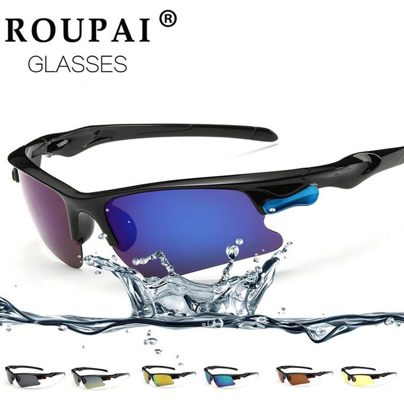 ROUPAI Brand Polarized Sun Glasses Cycling Men Running Ski Goggles Outdoor Bike Built Myopia Sunglasses Sport  Spectacle