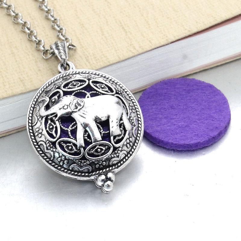1 шт. аромадиффузор ожерелье Открытый Античный винтажный медальон кулон парфюм эфирное масло ароматерапия медальон ожерелье с подушечками - Окраска металла: 031211