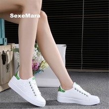 2018 Sneakers women Brand leather sport shoes woman Running shoes for women Platform arena Athletic Trainers zapatos mujer 35-41