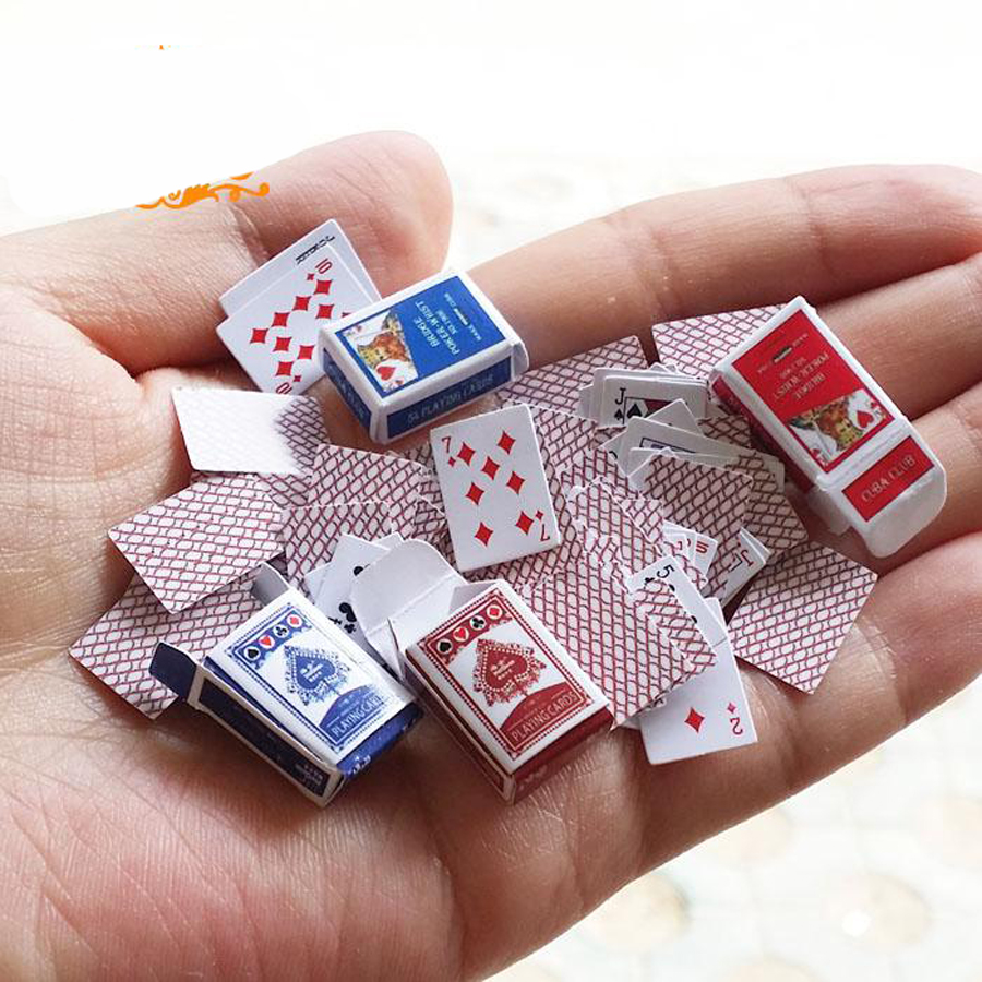 Miniature poker 1 12 dollhouse miniatures accessories doll for Accessory house
