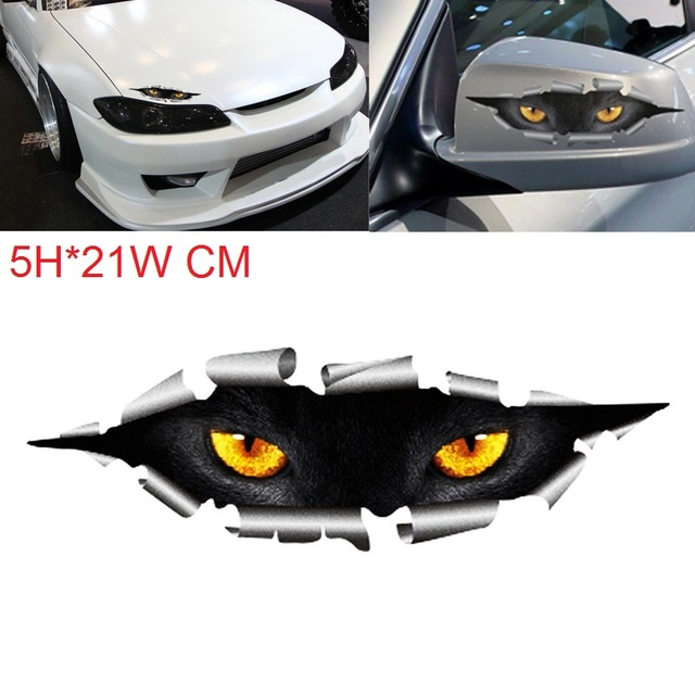 1Pcs 210x50mm Car Styling Funny 3D Eyes Car Sticker Waterproof Peeking Monsters Decals Stickers Car styling Decoration