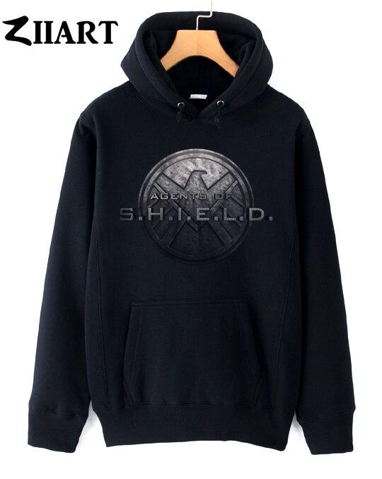 vintage eagle logo Agents of S.H.I.E.L.D couple clothes girls woman female autumn winter cotton fleece hoodies