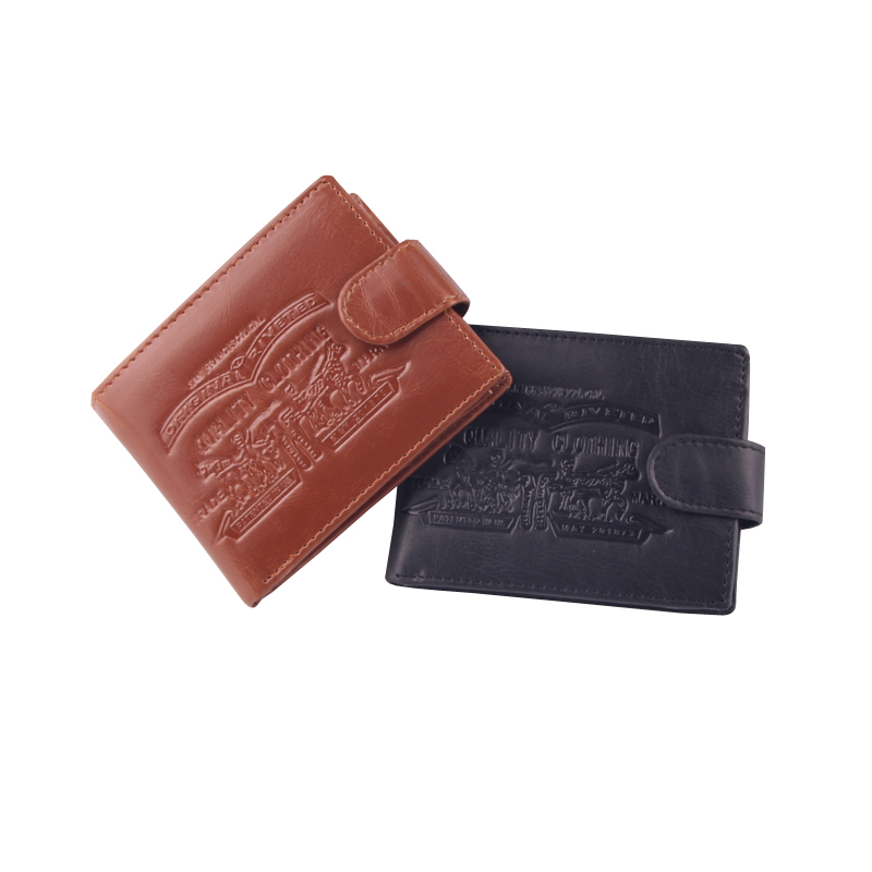 2017 New Fashion Men's Purse Casual Multifunction Wallet Card Bag Leather Famous Brand Man Wallet 2 Colors Dollar Package