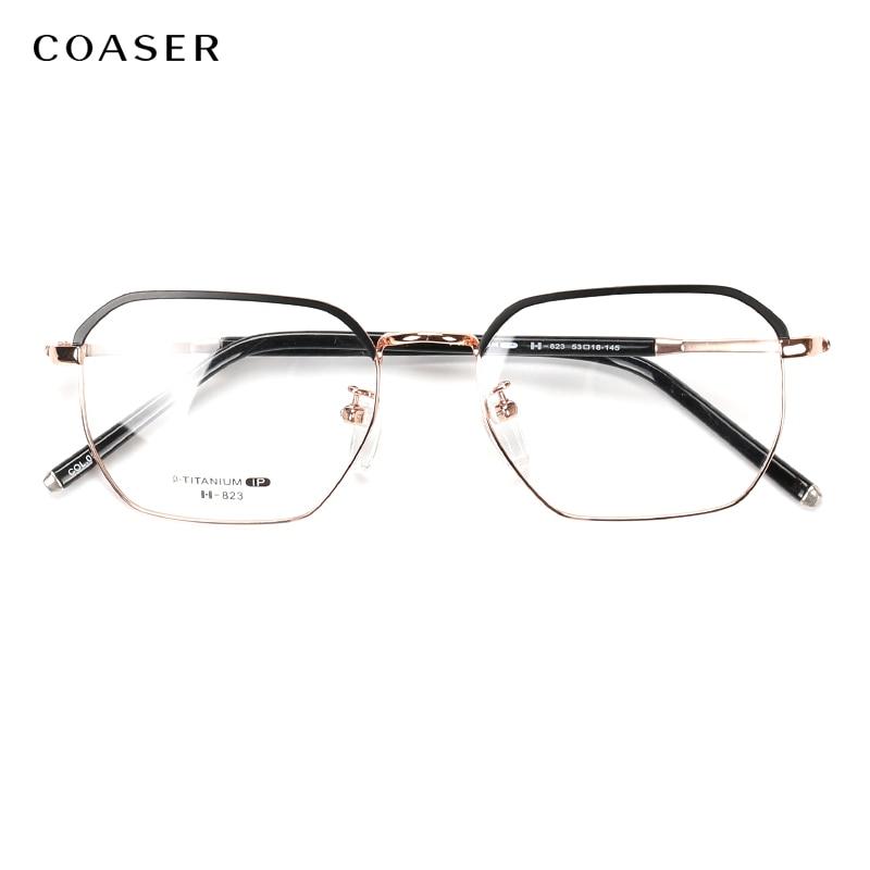 2019 nouveau surdimensionné vintage lunettes optiques cadre titane lunettes cadres pour hommes lunettes Prescription montures de lunettes