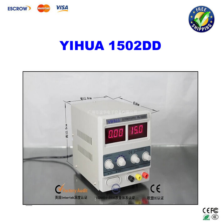 ФОТО 220V YIHUA 1502DD 15V 2A Adjustable DC Power Supply LED Display Mobile phone repair