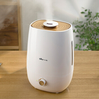 5l Household Double Purification Mist Maker Portable Knob Aroma Diffuser Ultrasonic Humidifier With Antibacterial Water Tank