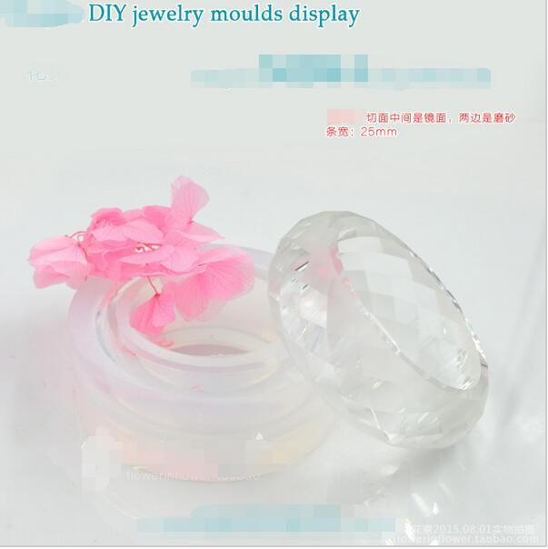 58/60/62/64mm Inner Diameter Transparent Silicone Round Bracelet Mould For Resin Real Flower DIY Mold Bangle Mould