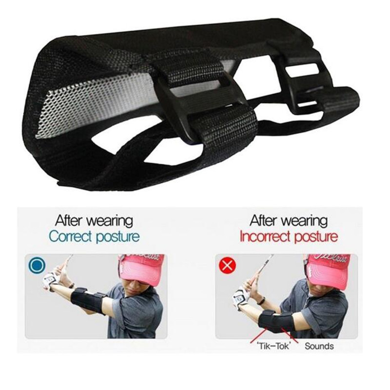 Golf Swing Trainer Aids Elbow Correction Brace Straight Arm Corrector Support Practice KH889