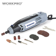 цена на WORKPRO 130W Mini Drill Electric Rotary Tool With Grinding Power Tool Accessories Multifunction Mini Engraving Grinder