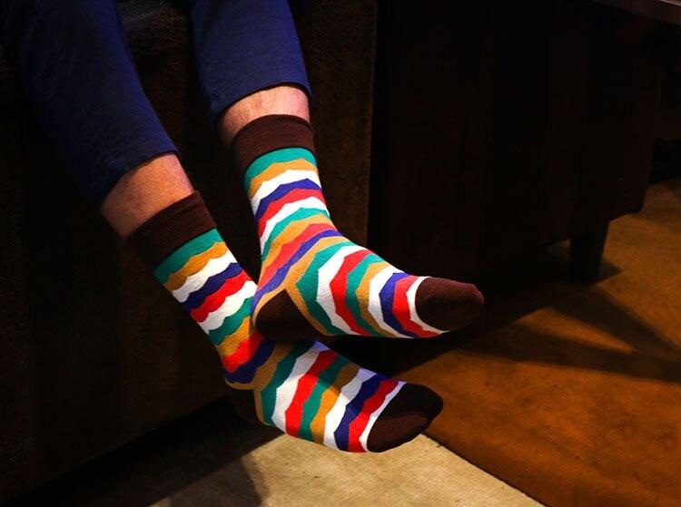 Happy socks men cotton Breathable stockings socks Autumn winter thermal soccer Sports socks Cycling Skiing 2017 Christmas gift