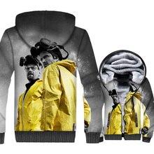 Breaking Bad Heisenberg & Jesse Pinkman Priented 3D Hoodie Sweatshirt Men 2019 Hot Winter Zip Jackets Loose Fit Mens Streetwear