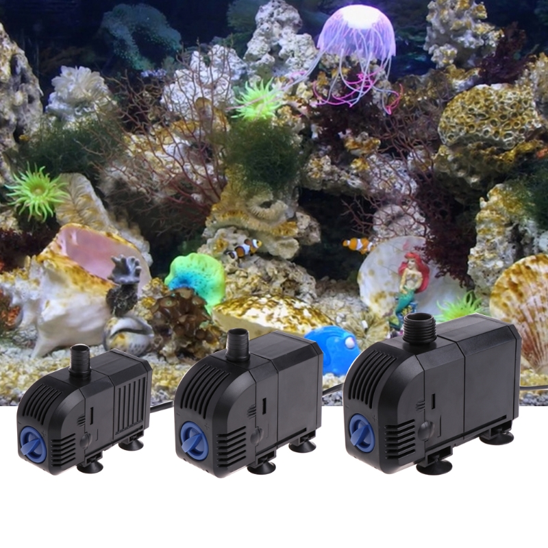 Adjustable Submersible Water Pump Aquarium Fountain Anticorrosive Fish Aquatic Pet Fish Tank Water Pumps Aquario Accessory 7-20W