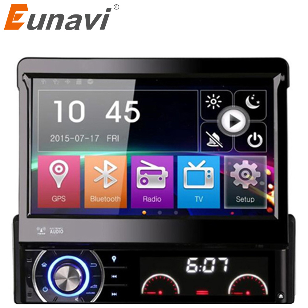 Eunavi DK7090 7 1 Din WCE Car DVD Player GPS Navigation Universal In-dash Detachable Front Panel Auto Radio Audio Stereo image