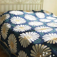 Free Shipping Single Double Size Sofa Leisure Blanket Bedspread Many Sizes 100 Cotton Thread Three Layer