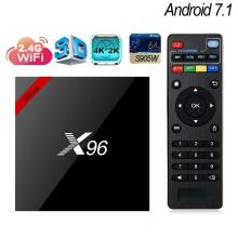 купить X96w android 7.1 tv box X96 WiFi 2GB 16GB Amlogic 1GB 8GB S905W tvbox Quad Core WiFi Media Player smart Set top x96mini wi-fi в интернет-магазине