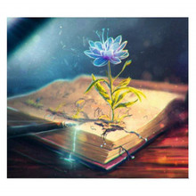 Flower and book diamond Embroidery diy painting mosaic diamant 3d cross stitch pictures H617