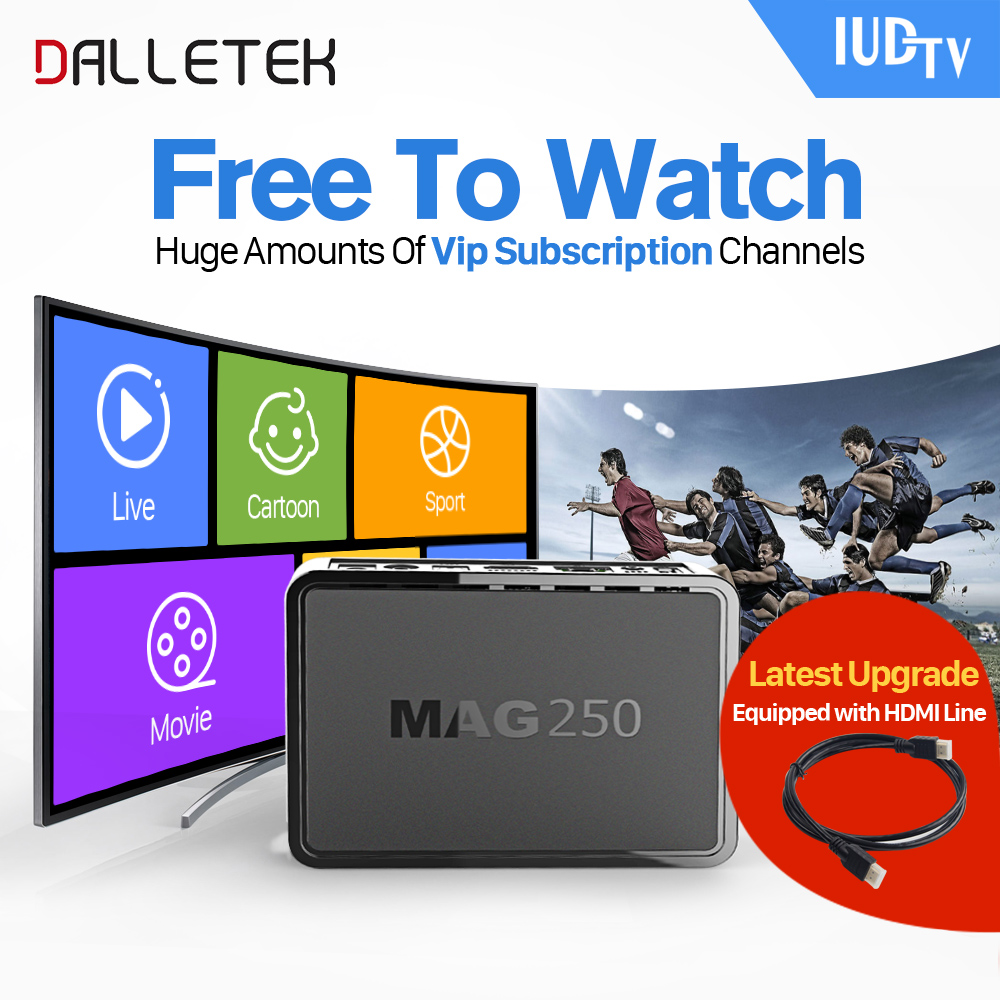 все цены на Dalletektv MAG250 Linux IPTV Set Top Box Europe IPTV Subscription Arabic French UK Italy USA Germany Sweden Streaming Box онлайн