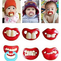 1Pc Silicone Joke Baby Soother Prank  Nipples Teether Baby Pacifier  Beard Nipples Pacifier Clips