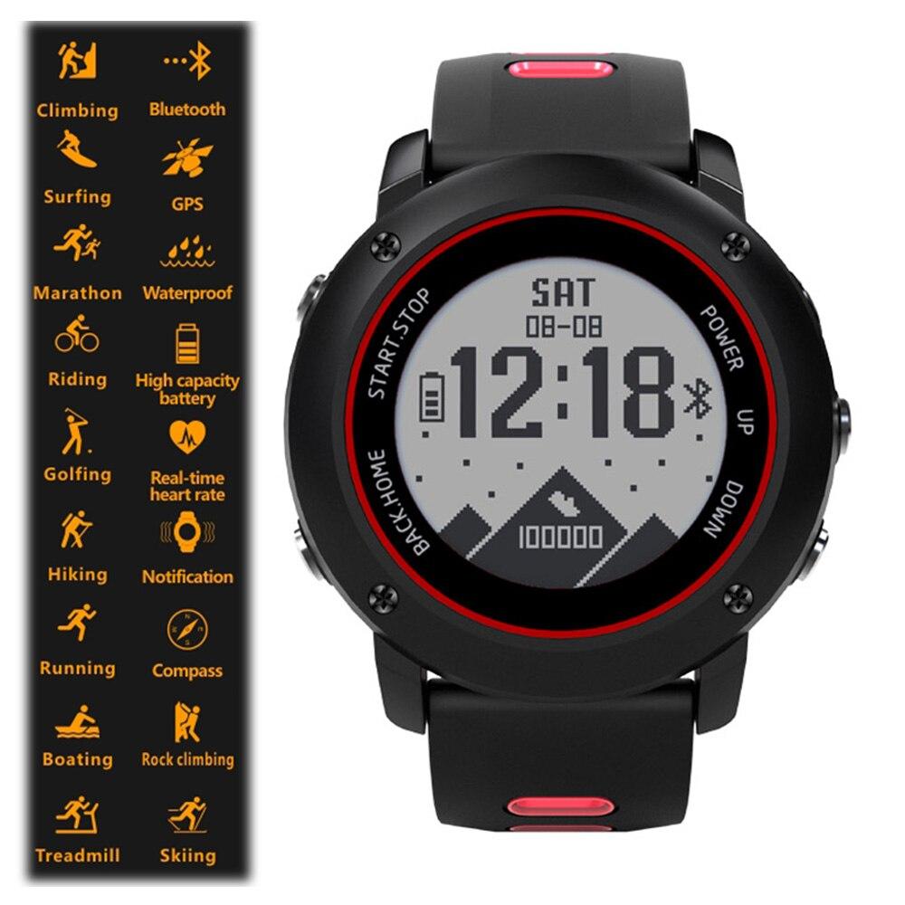 Uwear IP68 Profissional Relógio Do Esporte UW90 Aço Inoxidável Relógio Inteligente Bluetooth 4.2 GPS Freqüência Cardíaca Correndo Caminhadas Natação.