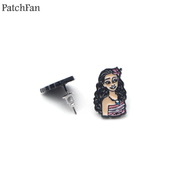 Patchfan Moana Cartoon Creative Design For Earrings Party Favors Jewelry Gifts Girlfriend Birthday Presents A1412