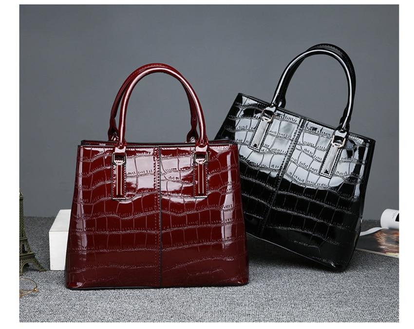 alta qualidade de couro patente marcas luxo