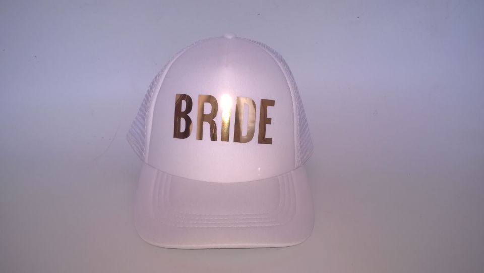 C /& Fung ® mariée tribu Bachelorette poule Trucker Hat Cap équipe Mariée Or lettres