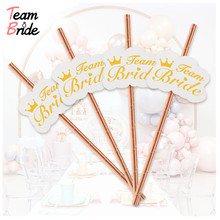 Team Bride 10pcs Drinking Straws Wedding Engagement Decoration Party Supplies Shower Favors Bachelorette