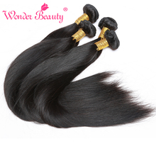 Wonder Beauty Peruvian Straight Hair Extensions 100% Human Hair With 4 Bundles Length From 8 Inches to 30 Inches Free Shipping