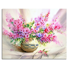 DIY 5D Full Drill Diamond Embroidery Vase flowers floral Painting Cross Stitch Square Rhinestone Mosaic home Needlework